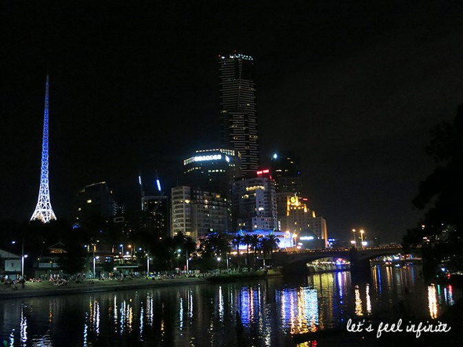 Melbourne CBD by night