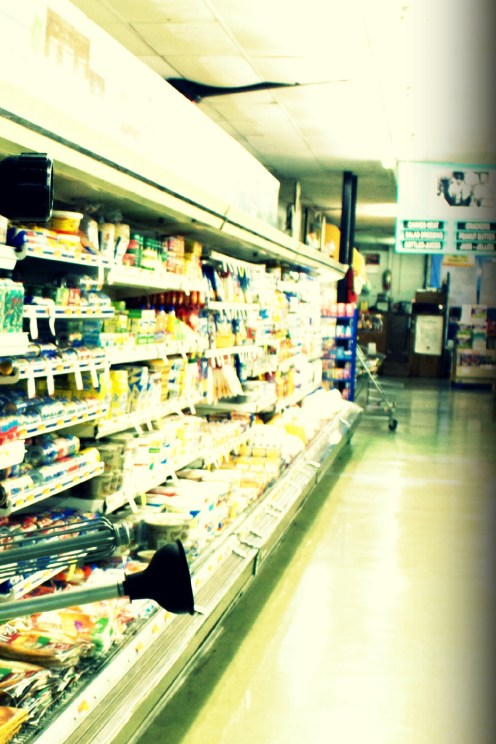 Just an average store dairy isle - overexposed