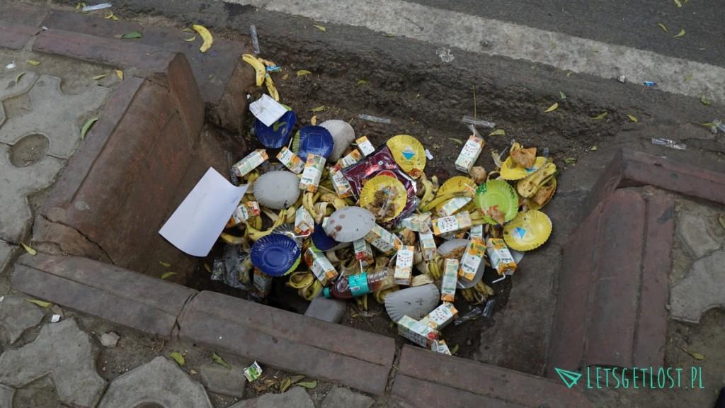 śmieci w indiach
