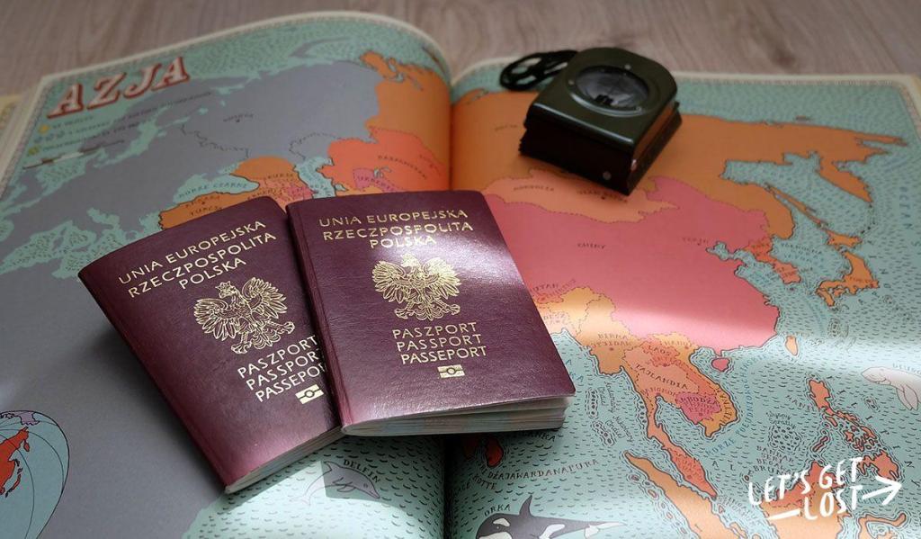Paszporty na mapie Azji