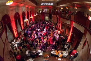 Guests at the Society Room for the 2013 Big Red for the Arts