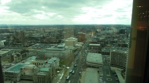 View of Hartford from the Gold Building cafeteria.