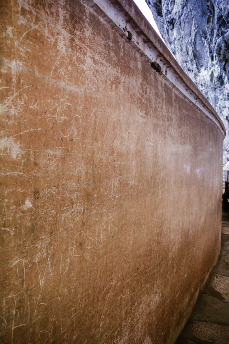 The Mirror Wall in Sigiriya