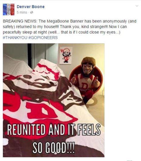 Boone reunited
