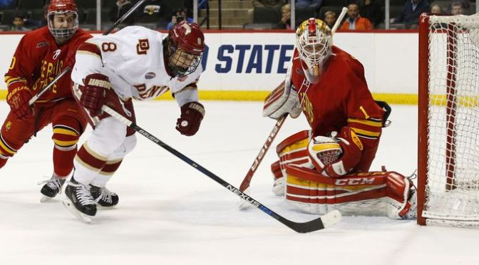 Denver Clinches Frozen Four Berth with 6-3 Victory over Ferris State