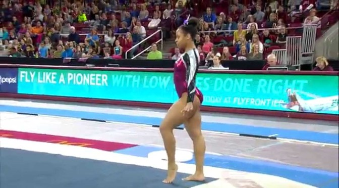 Gymnast Nina McGee Goes for Texas-Sized Achievement