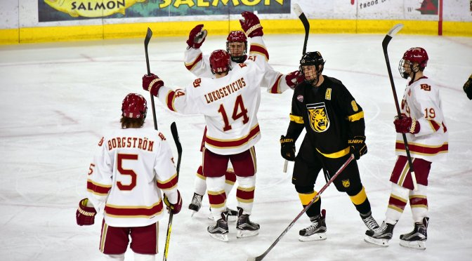 Denver tops Colorado College for 11th straight time in Troy Terry's return