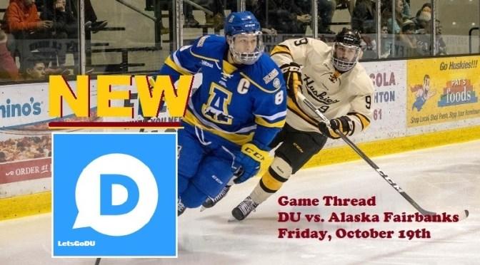 Denver Hockey Game #3 Thread: Denver vs. Alaska Fairbanks