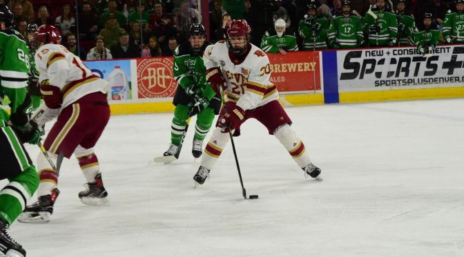Pioneers clip Fighting Hawks' wings to take physical game one, end short losing streak
