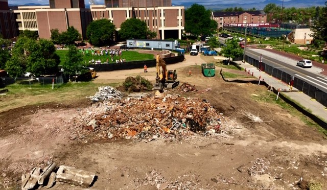 Final Phase I Project of the Denver Advantage underway with Leo Block Demolition