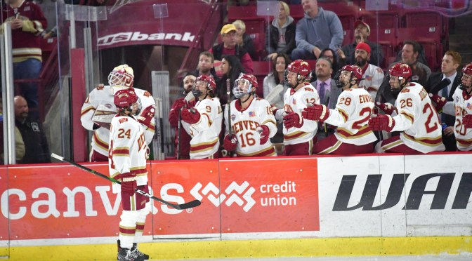 Pioneers buck five-game skid with dominant 6-1 victory over Broncos