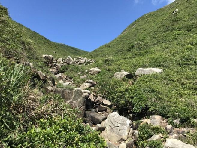 大坑墩>大雞坑>刀片脊>坐佛崖>大嶺峒>大坑墩