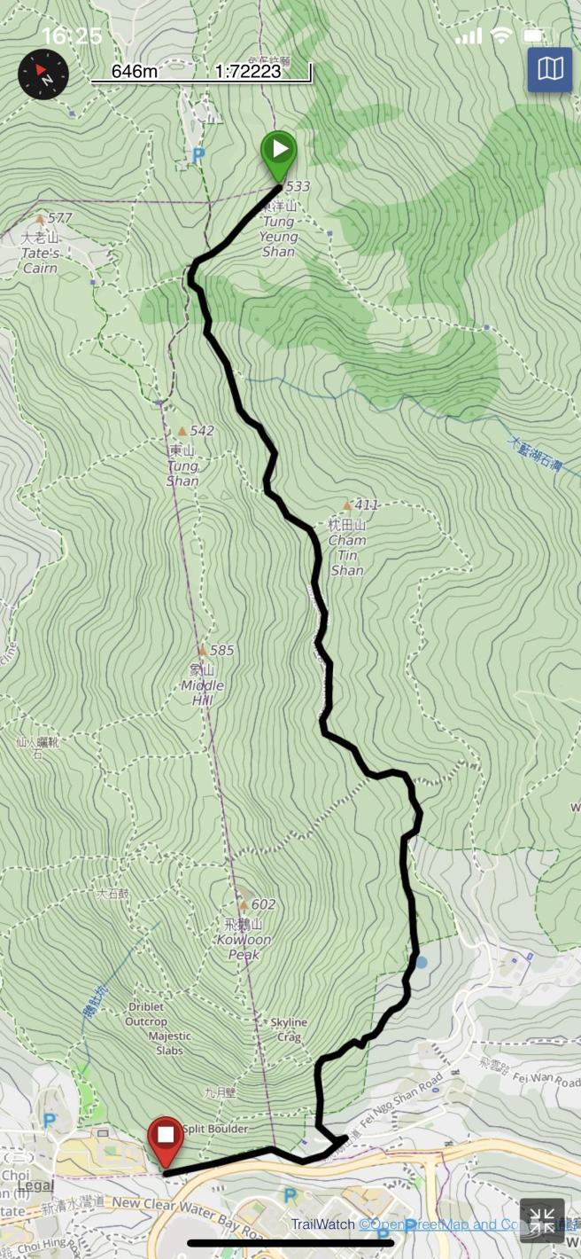 飛鵝山道>衛奕信徑第4段>東洋山>麥理浩徑第4段>基維爾營>飛鵝山道