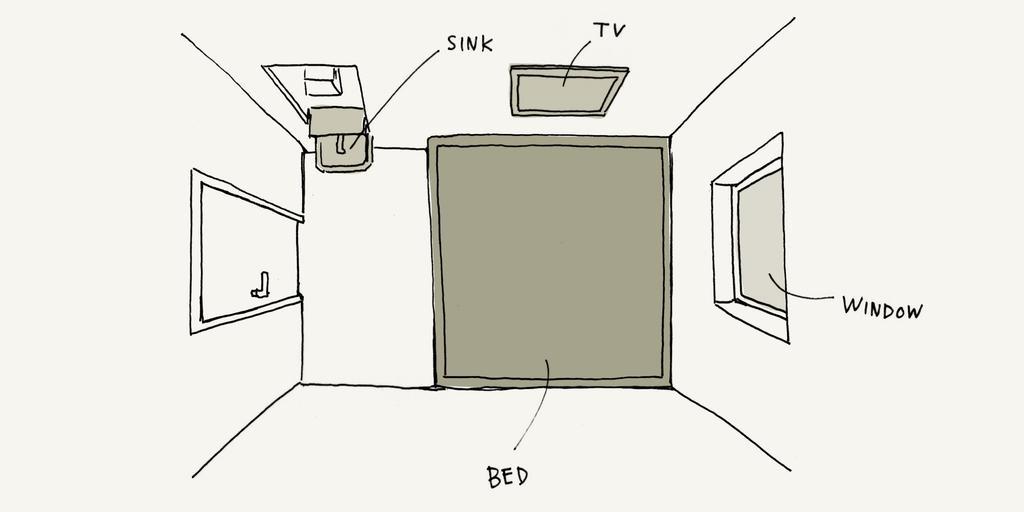 Piece Hostel 雙人房繪圖