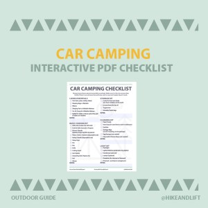 Car Camping PDF Interactive Checklist