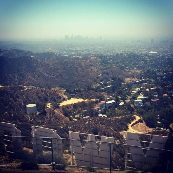 Hollywood sign - from the top