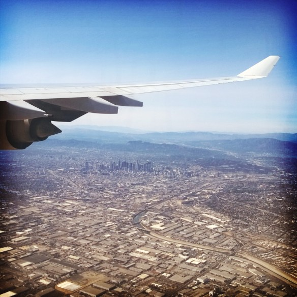 Los Angeles dall'aereo