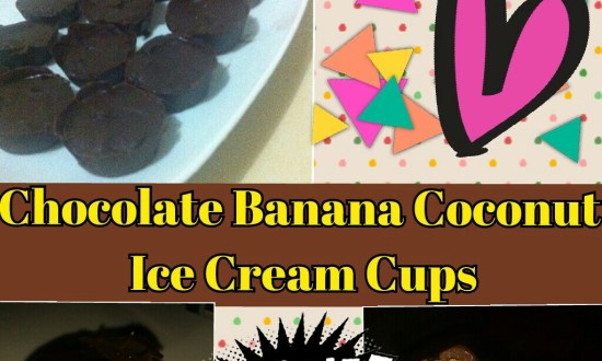 Banana Coconut Ice Cream Cups (chocolate smothered)