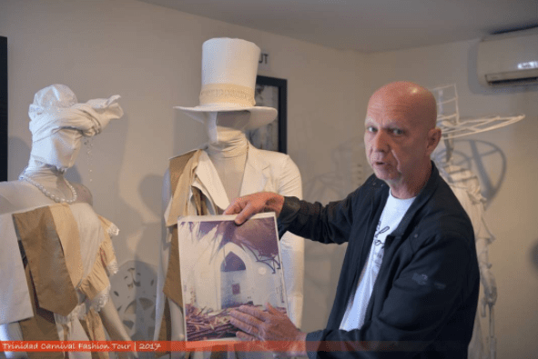 Brian MacFarlane showing the creative concept to production of a Carnival costume