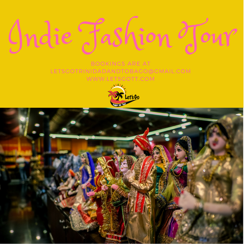 Let's go to the far east for far less in cost and time with this Indie Fashion Tour in and around Port of Spain. The island's history and culture accounts for this Indie fusion fashion. Our ode to the people who came is justified by our trip to these Indie spaces for designer shopping and culture immersion. Learn about the impact of East Indians in Trinidad's fashion history. Unfold the stories of each designer's creative journey on this 5 - 6 hours tour. Acquire perspective and clarity on our fusion fashion. Entice your taste buds with authentic Indo Trinidadian cuisine. Bask in your multiethnic bounty as your previous wardrobe gets a global upgrade with these regal and intricate finds. Pick up at hotel: 9:30 a.m