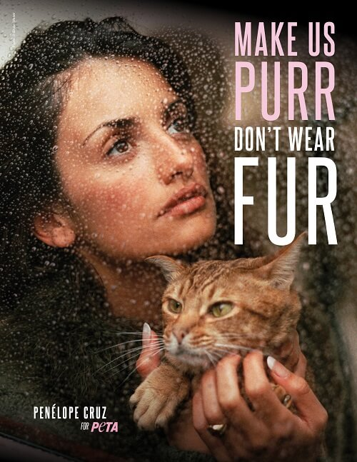Penelope Cruz urges us to ditch the fur