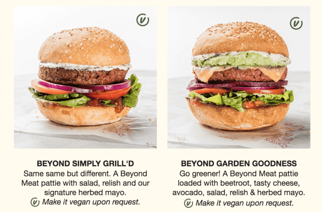 Grill'd add Beyond Meat