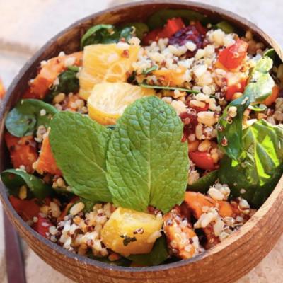 Sweet Potato, Cranberry & Brown Rice Salad