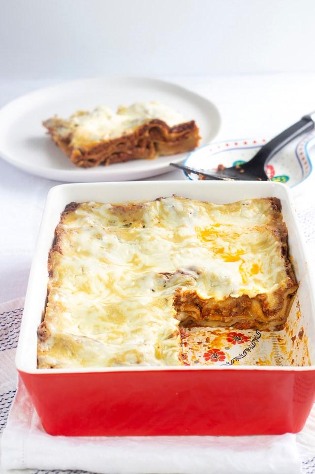 vegan lasagna made by Nadia Fragnito