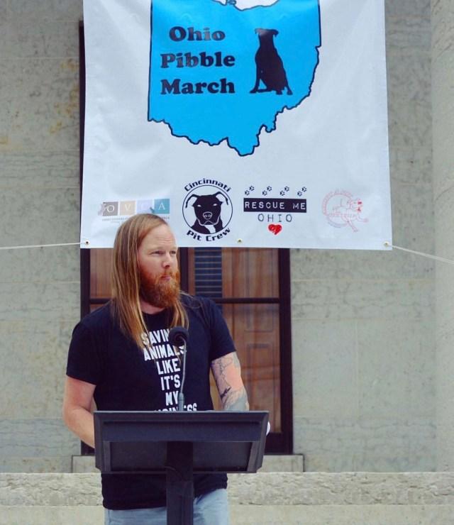 Luke Westermen Animal Rights talk at march