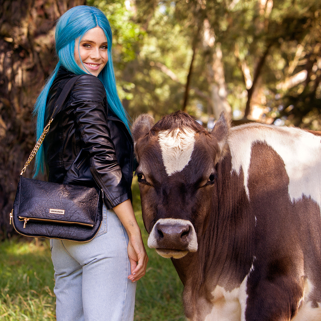 DJ Tigerlily promotes vegan leather in the latest Animal Liberation campaign