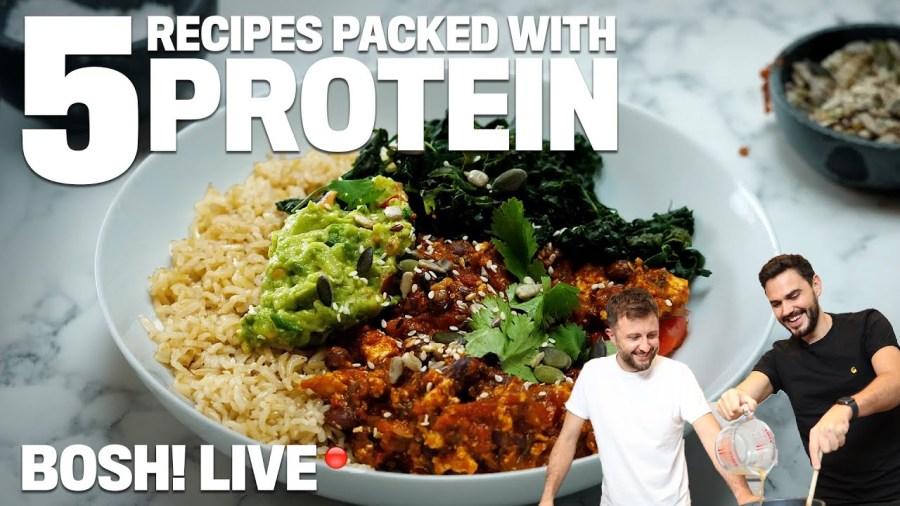 5 high protein vegan meals by BOSH!