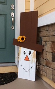 Scarecrow porch sign