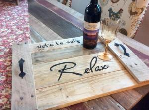 Note to Self Farmhouse Tray