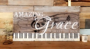 Amazing Grace piano keys