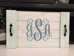 Monogram Initials Tray