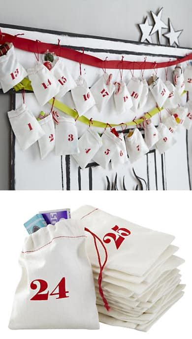 Christmas Countdown Goodie Bags - How adorable are these?!?