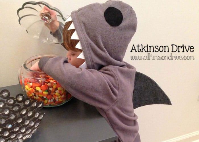 DIY No-Sew Shark Costume