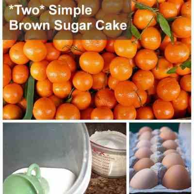 """Too Simple, """"Two"""" Simple Brown Sugar Cake"""
