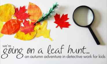 We're Going on a Leaf Hunt: An Autumn Book Activity for Kids