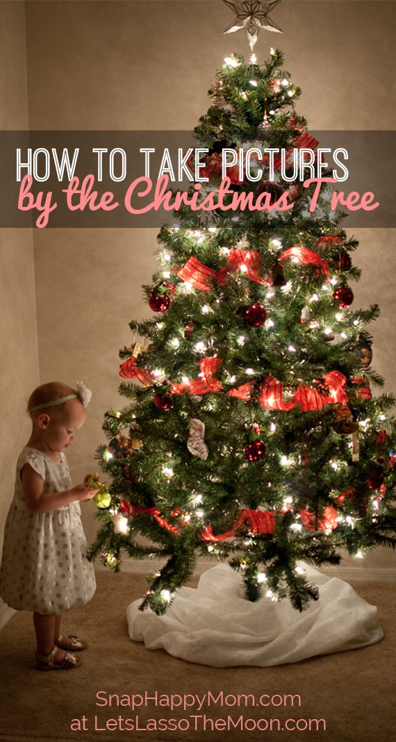 How To Take WHIMSICAL Christmas Tree Pictures With Kids - A Parent Guide for Beautiful Holiday Photos *Love these tips and the blurred background bokeh photographs too!