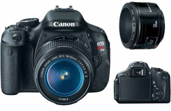 Canon Rebel using a 50mm f/1.8 lens