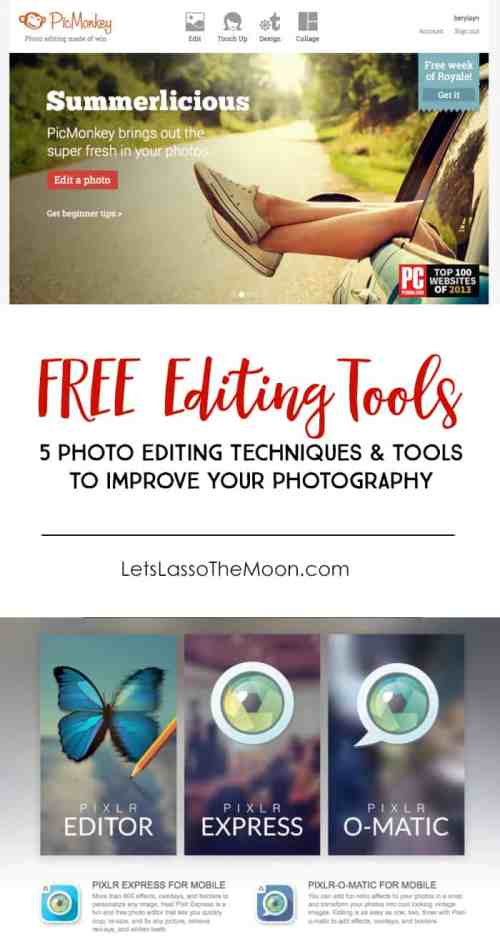 5 Photo Editing Tools and Techniques *Great list of EASY tips.