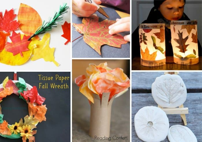10 Fall Kids Crafts + Children's Books to Kick-off the Season *love these decoration projects