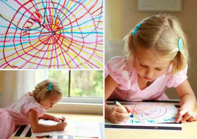 Spider Web Art Project for Children *Great Halloween idea for kids