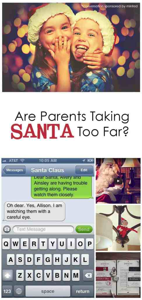 "Are Parents Taking ""Santa Shenanigans"" Too Far at Christmas? *Interesting article"