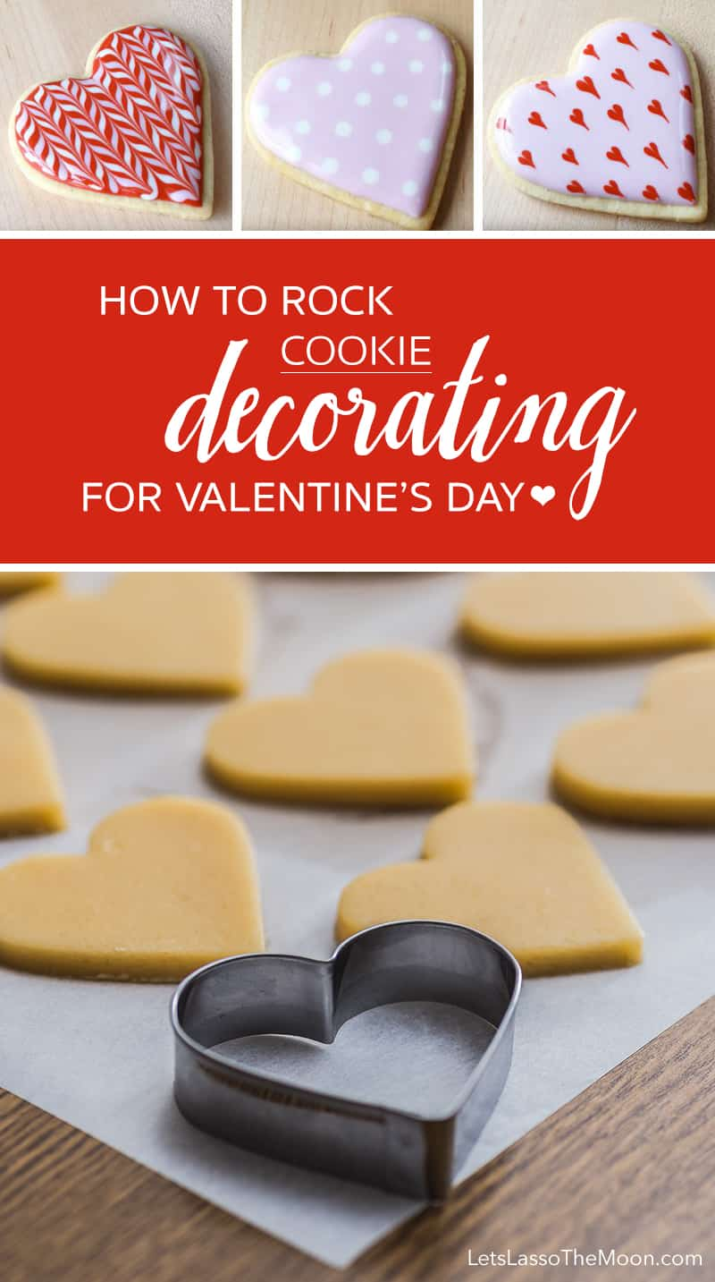 How to ROCK Valentine's Day Cookie Decorating *Great icing recipe and video tutorials