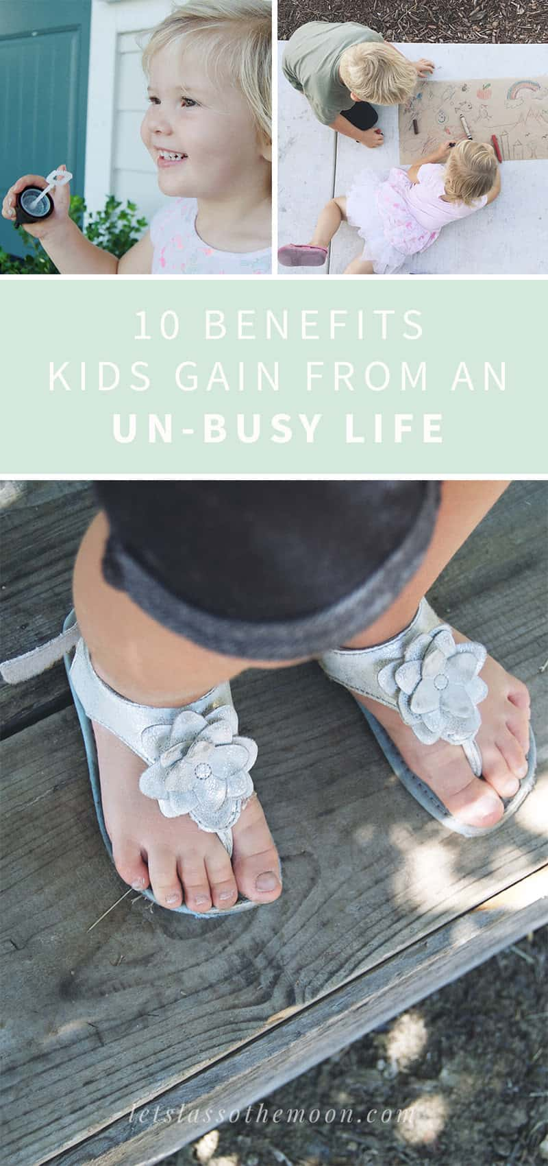 10 Benefits Kids Gain From An UN-BUSY Life: Life should be taken at the pace that suits you and your family. Embrace an un-busy life today. Enjoy these ten benefits to living slow (and purposefully) with your kids. *Loved this post! Such a good read for parents.