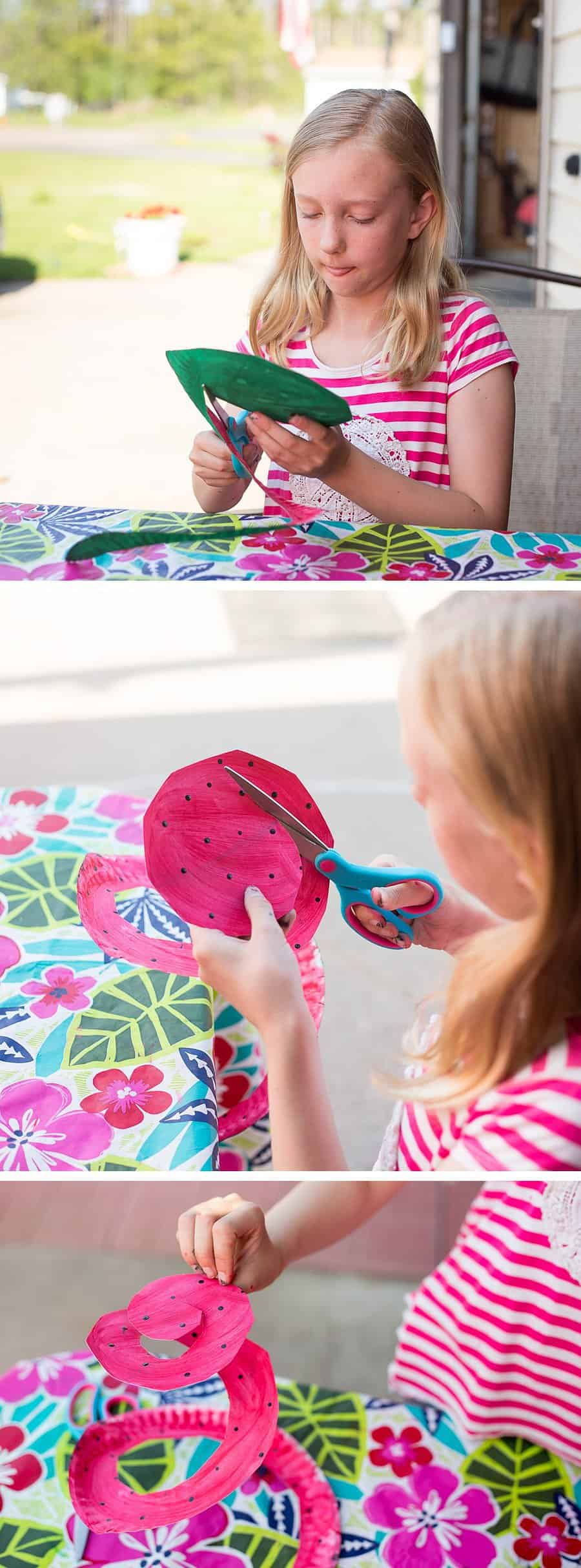 Watermelon Wind Spinner: Paper Plate Craft for Children *My kids would love this easy project. Saving this for summer break. Love the patriotic flag spinners too!