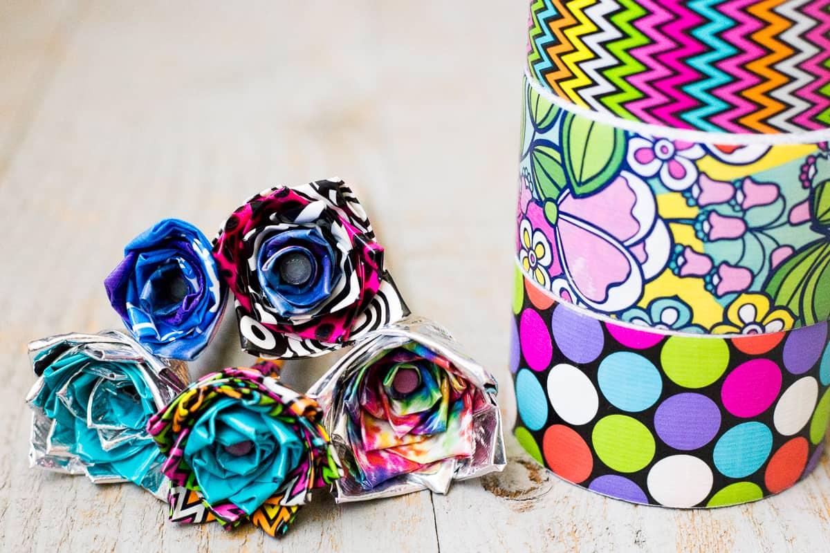 Diy Duct Tape Flower Pens