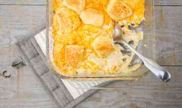 Insanely Delicious (and Quick!) Cheesy Ranch-Chicken Biscuit Casserole